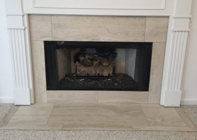 fireplace tile work
