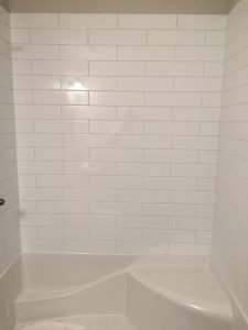 shower tiles white