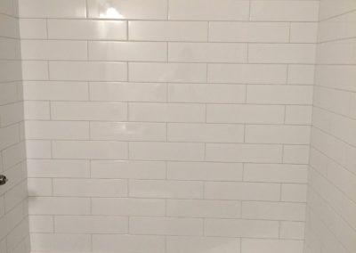 simple shower tiles white