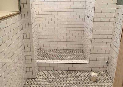 shower tile install