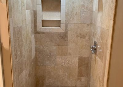 shower tile install