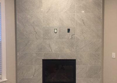 tiles around gas fireplace